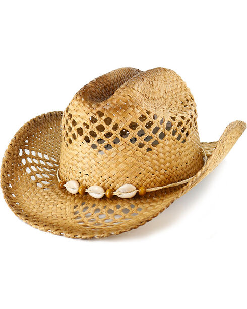 Shyanne® Women's Seashell Straw Hat, Natural, hi-res