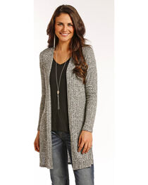 Panhandle Women's Grey Open Front Cardigan , , hi-res