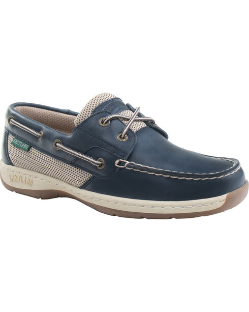 Eastland Women's Navy Solstice Boat Shoe Oxfords  , Navy, hi-res