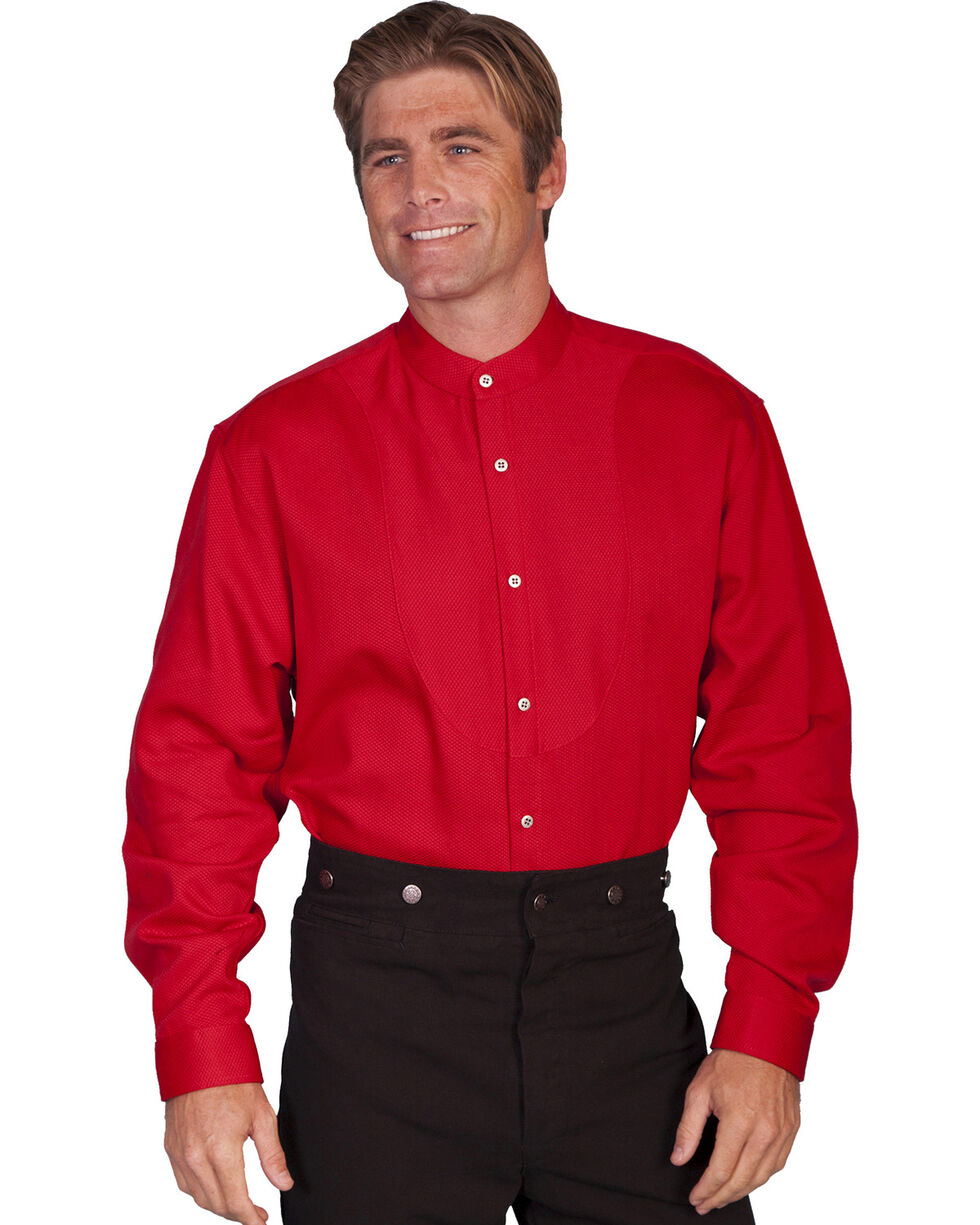 Wahmaker by Scully Long Sleeve Frontier Shirt, Red, hi-res