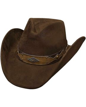 Bullhide Men's Shadow In The Dust Faux Felt Hat, Chocolate, hi-res