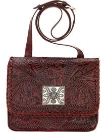 American West Red Grand Prairie Crossbody Flap Bag, , hi-res
