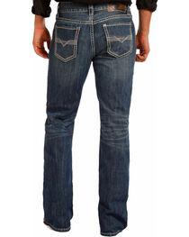 Rock & Roll Cowboy Men's Blue Bean Stitch Double Barrel Jeans - Boot Cut , , hi-res