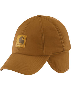 Carhartt Men's WorkFlex Ear Flap Cap, Carhartt Brown, hi-res