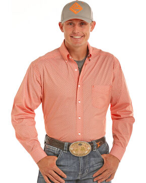 Tuf Cooper Performance Men's Competition Fit Print Shirt, Orange, hi-res