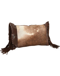 BB Ranch Cowhide Fringe Pillow, , hi-res
