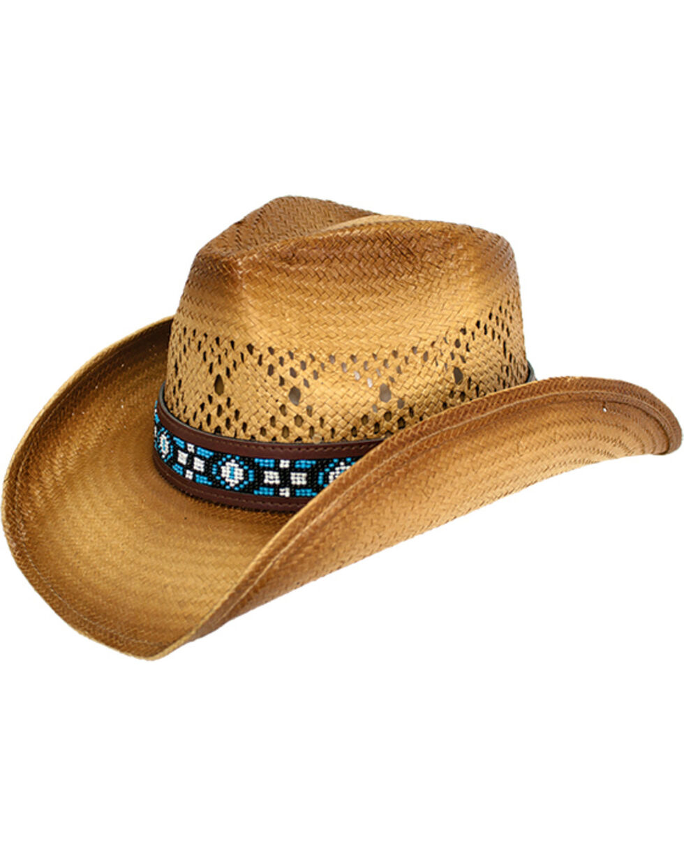 Peter Grimm Women's Tan Carissa Cowgirl Hat , Tan, hi-res