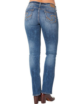 Silver Jeans Women's Plus Size Suki Mid Slim Boot Cut Jeans, Blue, hi-res