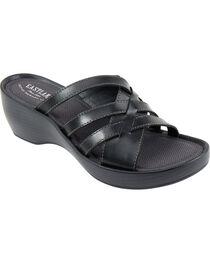 Eastland Women's Black Poppy Wedge Sandals, , hi-res