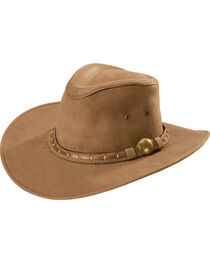 Bullhide Timber Mountain Leather Hat, , hi-res