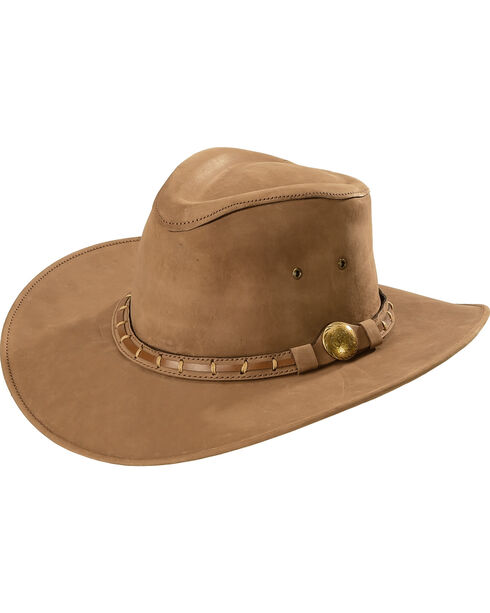 Bullhide Timber Mountain Leather Hat, Brown, hi-res