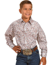 Rough Stock by Panhandle Boy's Patterned Long Sleeve Shirt , , hi-res