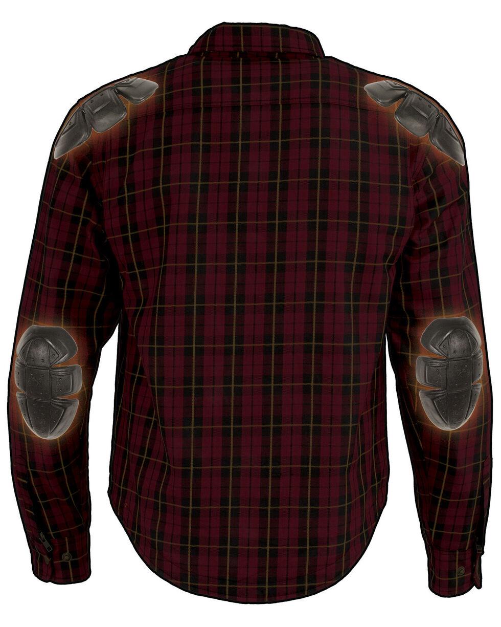 Milwaukee Performance Men's Aramid Reinforced Checkered Flannel Biker Shirt - 5X, Black/red, hi-res
