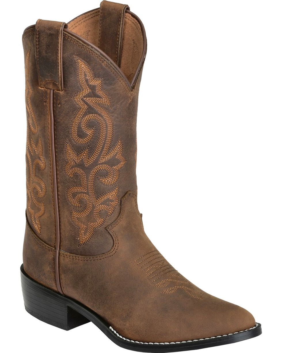 Justin Youth Western Boots, Bay Apache, hi-res