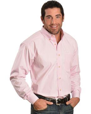 Ariat Pink Balin Stripe Long Sleeve Shirt - Big & Tall, Pink, hi-res