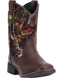 John Deere Kids' Camo Printed Western Boots, , hi-res