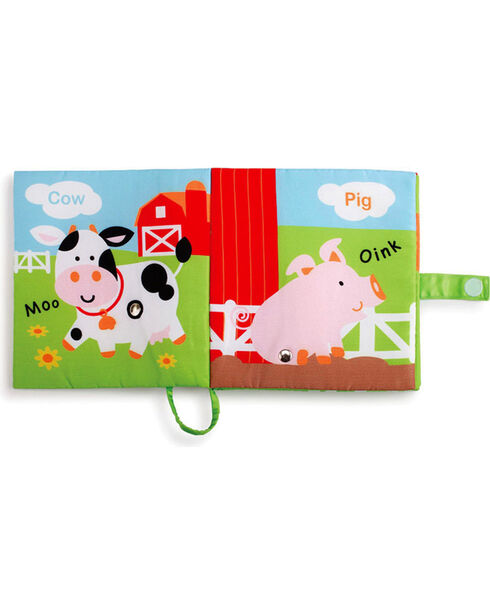Barnyard Friends Fun with Sound Plush Book, Red, hi-res