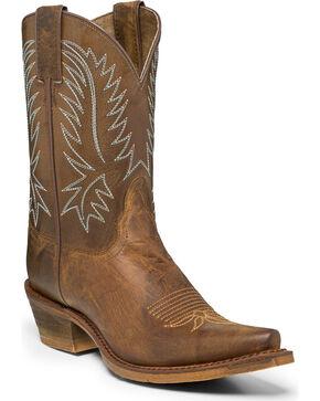 Nocona Women's Katherine Snip Toe Western Boots, Brown, hi-res