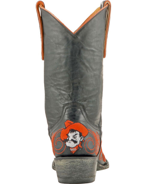 Gameday Oklahoma State University Cowgirl Boots - Snip Toe, Black, hi-res