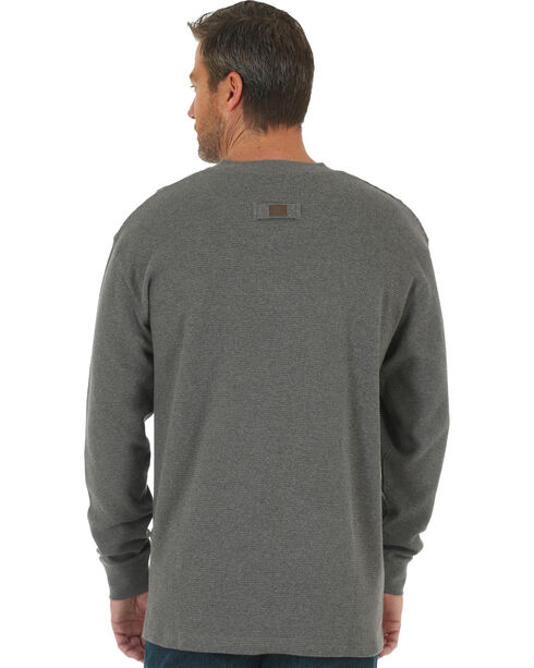 Wrangler Men's Charcoal RIGGS Thermal Henley , Charcoal, hi-res