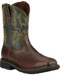 Ariat Men's Sierra Steel Toe Work Boots, , hi-res
