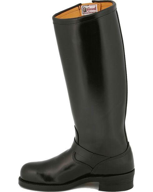 Chippewa Men's Steel Toe Engineer Motorcycle Boots, Black, hi-res