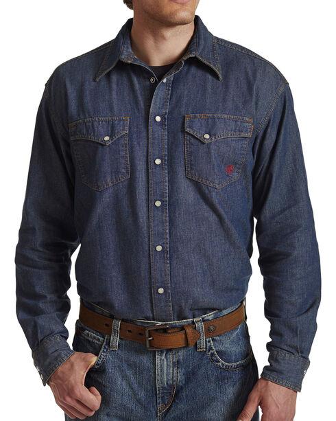 Ariat Flame Resistant Denim Snap Shirt, , hi-res