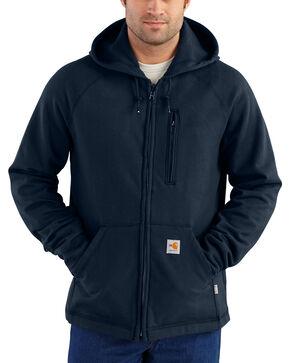 Charhartt Men's Flame-Resistant Force Rugged Flex Fleece Jacket, Navy, hi-res
