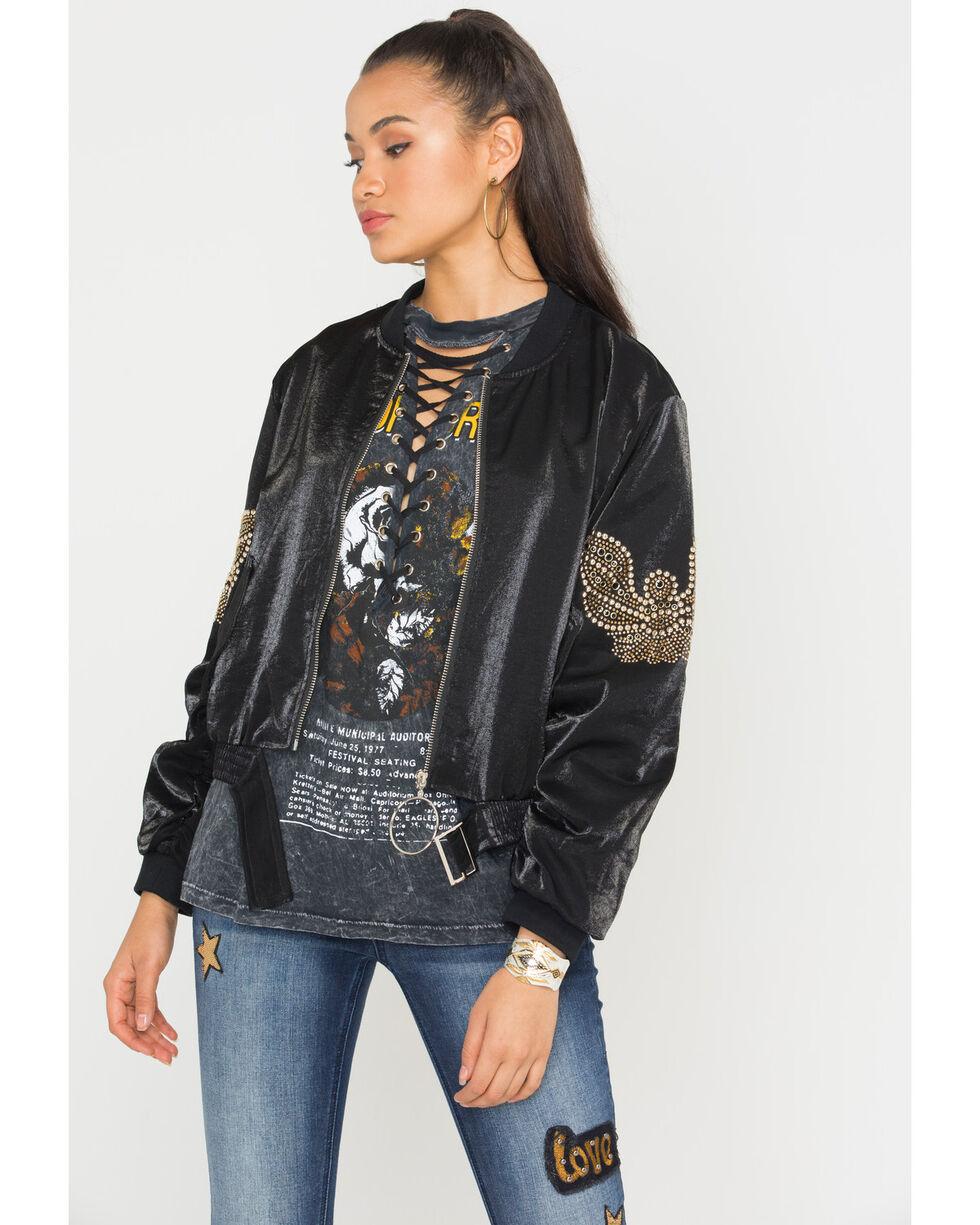 Sage The Label Women's Black Motobird Jacket , Black, hi-res