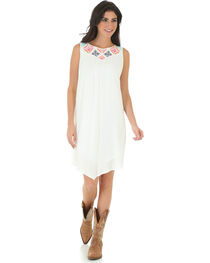 Wrangler Women's Applique Embroidered Sleeveless Dress, , hi-res