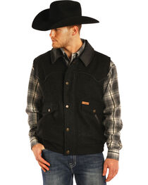 Powder River Outfitters Men's Holbrook Solid Wool Vest - Big & Tall, , hi-res