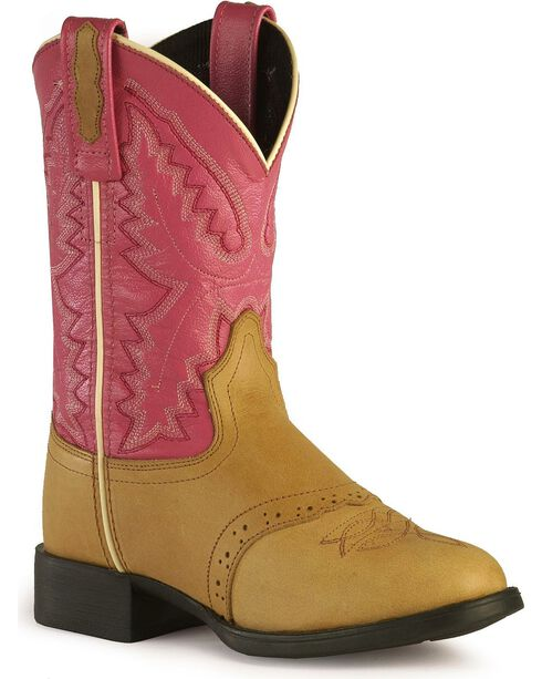 Jama Youth Ultra-Flex Western Boots, Sand, hi-res