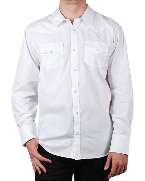 Gibson Men's Solid Long Sleeve Shirt - Tall, White, hi-res