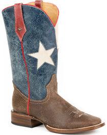 Roper Men's Texas Star Western Boots, , hi-res