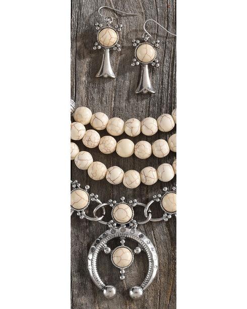 Shyanne Women's Beaded Squash Blossom Necklace Set, Ivory, hi-res