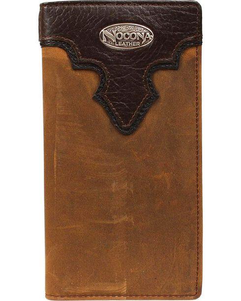 Nocona Men's Bi-Fold Rodeo Checkbook Wallet, Brown, hi-res