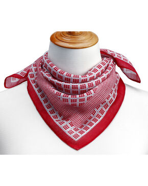 Big Sky Carvers Women's Pattern Scarf , Red, hi-res