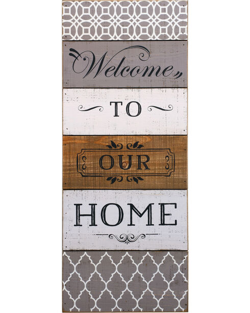 Demdaco Welcome To Our Home Wall Art, White, hi-res
