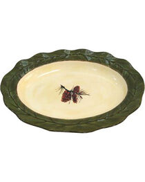 HiEnd Accents Pine Cone Serving Platter, , hi-res