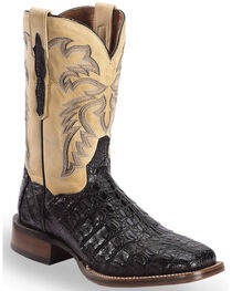 Dan Post Denver Caiman Cowboy Boots - Wide Square Toe, , hi-res