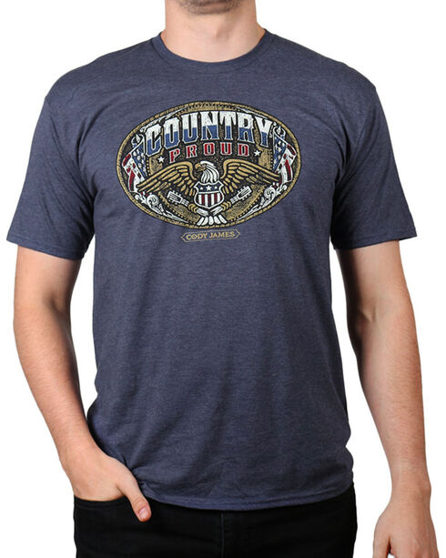 Cody James® Men's Country Proud Short Sleeve T-Shirt, Heather Blue, hi-res