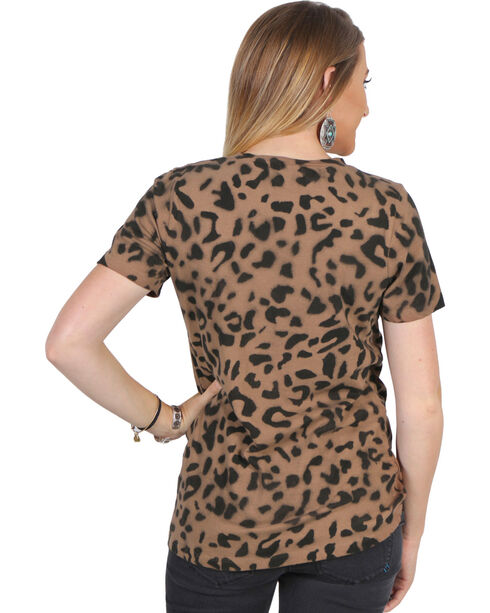 Luna Chix Women's Short Sleeve Animal Print Tee, Leopard, hi-res