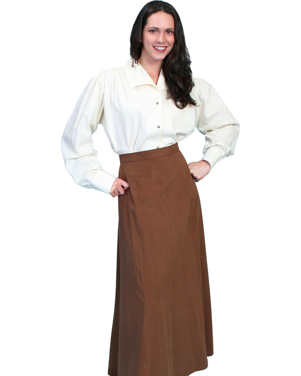 Rangewear by Scully Brushed Twill Skirt, Brown, hi-res