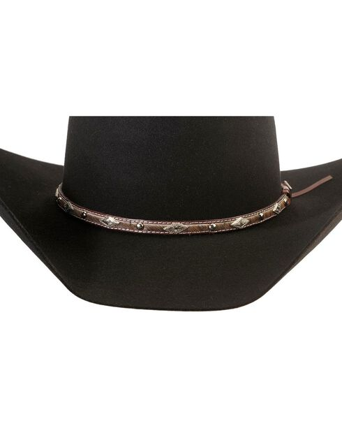 Larry Mahan 5X Brindle Fur Felt Cowboy Hat, Black, hi-res
