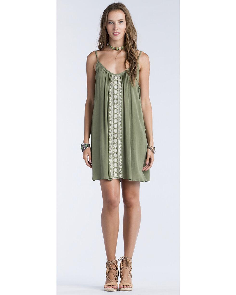 Miss Me Women's Olive Side Tie Swing Dress , Olive, hi-res