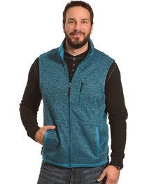 Powder River Outfitters Men's Blue Sweater Fleece Vest, , hi-res