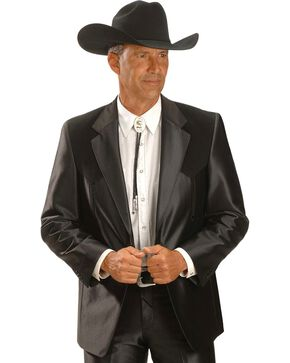 Circle S Men's Western Sports Coat, Black, hi-res