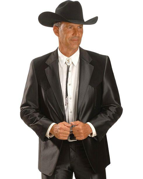 Circle S Men's Western Sports Coat, Black, hi-res