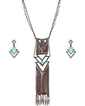 Shyanne® Women's Vintage Western Jewelry Set, Turquoise, hi-res