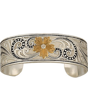 Montana Silversmiths 2-Tone Western Lace Whisper Cuff, Multi, hi-res